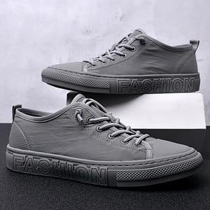 Image 2 - Summer Canvas Shoes Men Fashion Sneakers Hot Selling Vulcanized Canvas Shoes Tenis Feminino Plus Size 38 43 Gray Khaki