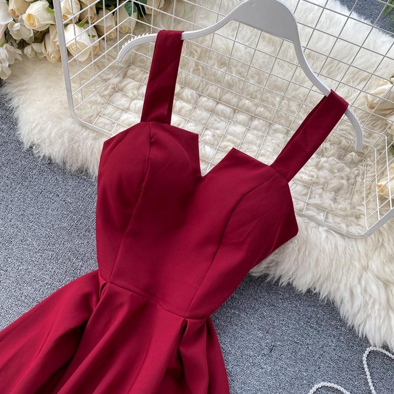 Elegant Vintage Sleeveless V-Neck Bandage Dress 23
