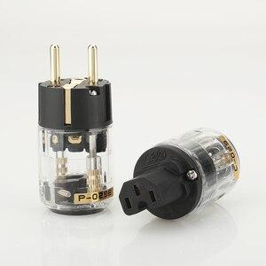 Image 1 - Pair P029E+C029 EU Power Plug IEC Female Power Connector hifi diy power cable Plug