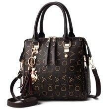2019 INS Tassel projektanci moda kobiety PU skórzana torba duża pojemność torby na ramię Casual Tote prosta pani top uchwyt torebki