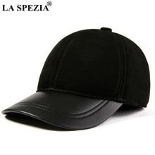 LA SPEZIA – casquette de Baseball pour hommes et femmes, en cuir véritable, daim, Patchwork, papa, solide, noir, rouge, marron, automne hiver