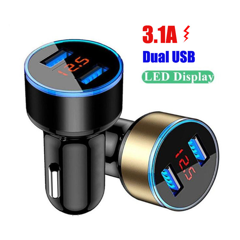 3.1A Dual USB Car Charger LED Display For Audi Q3 Q5 Q5L Q7 Q8 A1 A3 S3 A4 A4L A6 A7 S6 S7 A8 S4 RS4 A5 S5 allroad Prologue