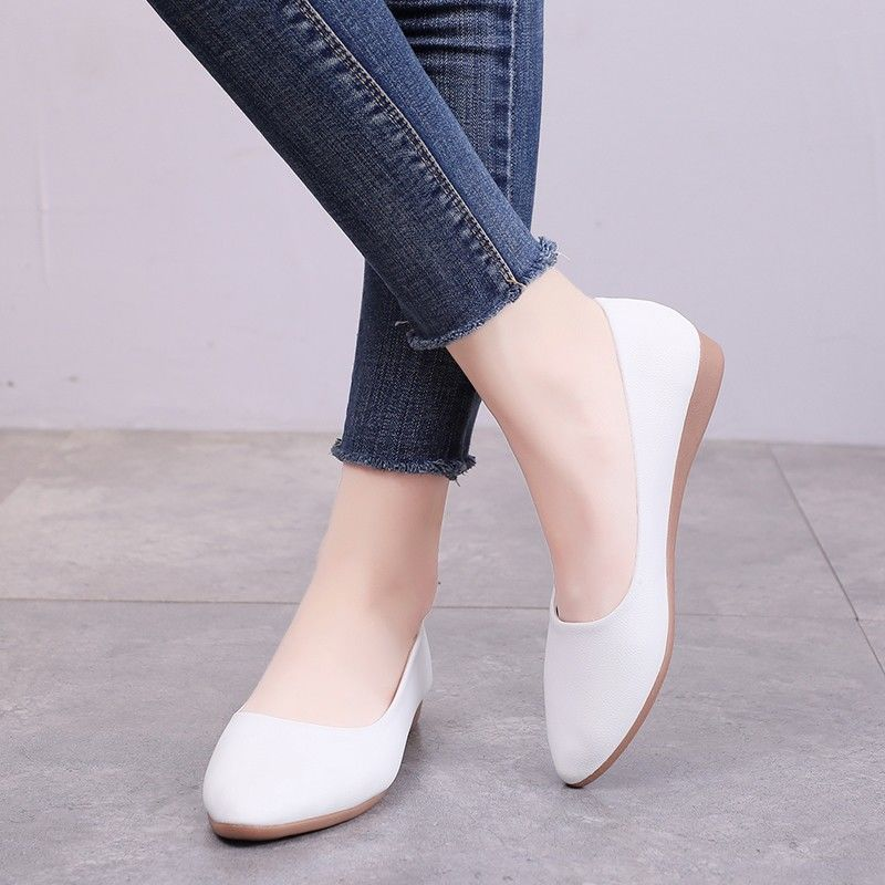 2020 Classic Style Solid Nurse Flats