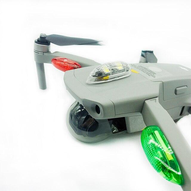 ليلة وامض قوي مشرق اللاسلكية لمسافات طويلة مصباح LED أضواء ل DJI Mavic Mini Air 2 برو شرارة فانتوم إلهام طائرات بدون طيار