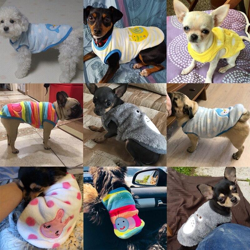 Для собак, одежда для собак для мелких Одежда для собак кошек теплое зимнее пальто для собак из хлопкового флиса Одежда для щенков одежда Французский бульдог Чихуахуа XXS-XL-2