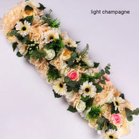100cm Wedding Party Road Cited Arch Door Flowers Wall Arrangement Silk Peonies Rose Artificial Flower Row Decor Wedding Backdrop