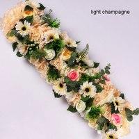 100cm Wedding Party Road Cited Arch Door Flowers Wall Arrangement Silk Peonies Rose Artificial Flower Row Decor Wedding Backdrop