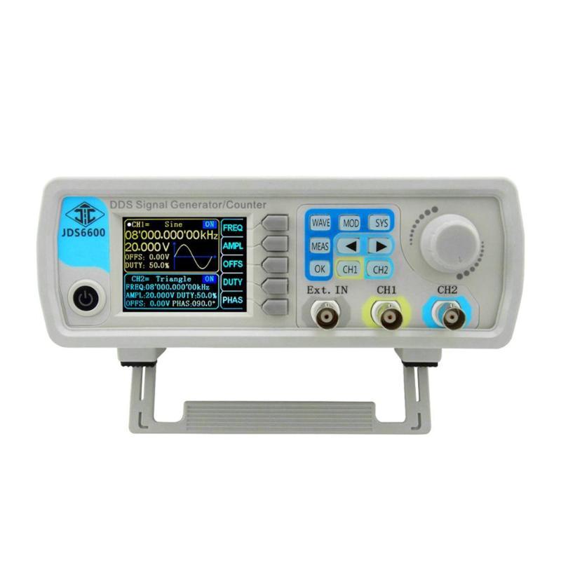 Serie JDS6600 MAX 60MHz Control Digital de doble canal DDS generador de señal de función de onda sinusoidal arbitraria medidor de frecuencia caliente