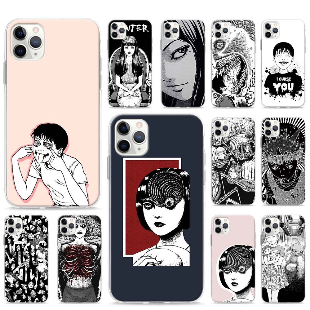 Junji Ito Tees Horror Case for Apple iPhone SE 2020 11 Pro Max XR X XS 6 7 8 SE2 Plus Phone Cover Shell(China)