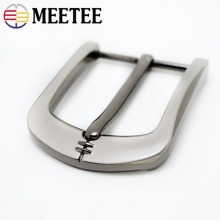 Meetee 1/2pcs DIY Leather Craft 40mm Metal Pin Buckle Belt Brushed Alloy Mens Cowboy Jeans Hardware Accessories