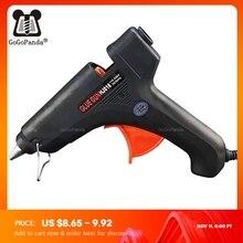 شحن مجاني 100 واط صمبها بنفسك صمغ يسيح بالحرارة بندقية العصي السوداء الزناد الفن الحرفية أداة إصلاح مع ضوء GG 5 110 فولت 240 فولت