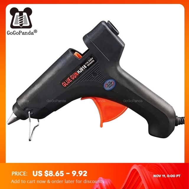 Il Trasporto Libero 100W Fai da Te Hot Melt Pistola di Colla Nero Spiedi Trigger Arte Artigianato Strumento di Riparazione con La Luce GG 5 110 v 240 V