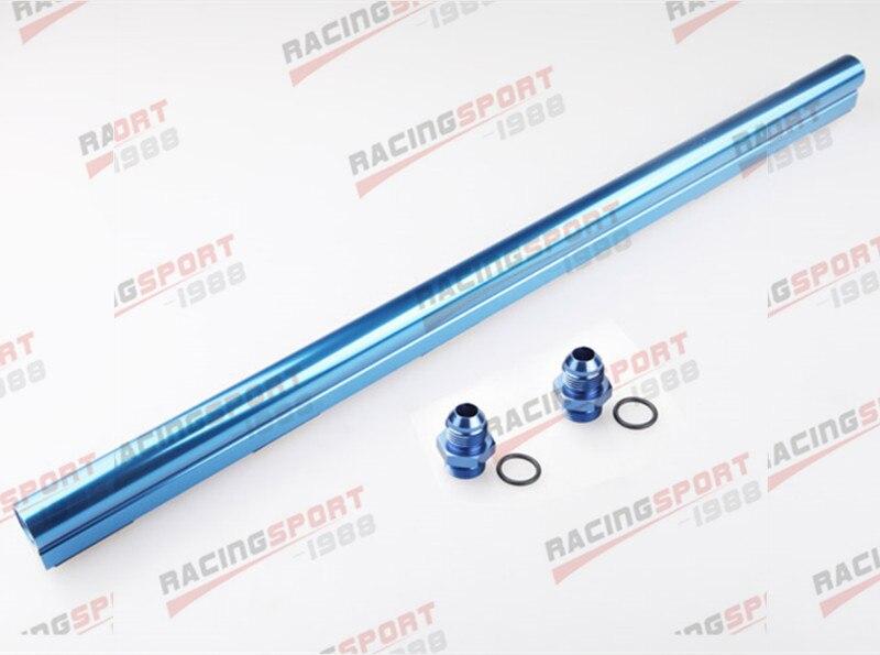 For BMW M30 S38 High Flow CNC Billet Aluminum Alloy Fuel Rail Blue