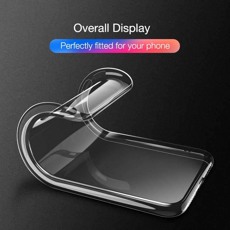Ultra Tipis Lembut Transparan TPU Case untuk iPhone 8 8 PLUS 7 8 6 6S Plus Bening Silikon Penuh PENUTUP UNTUK iPhone X XS Max XR 5 5 S SE