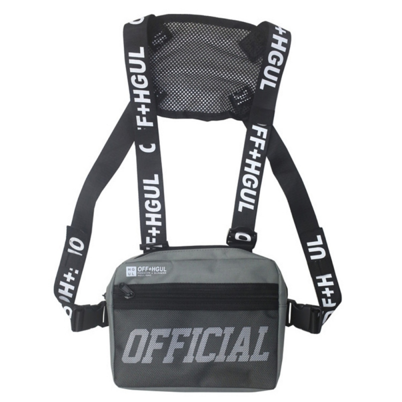 Men's Chest Bag Hip Hop Functional Chest Bag  Ins Hip Hop Trend Chest Bag Adjustable Tactical Vest Street Wear Bags