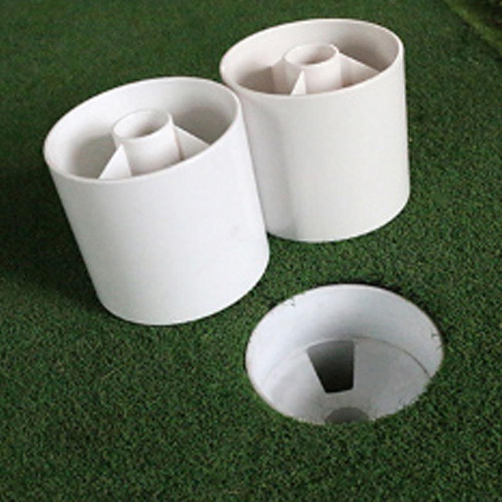 HobbyLane Golf Putting Green Backyard Plastic Practice Hole Cup Flag Stick Flag Stick Pitch Golf Equipment White