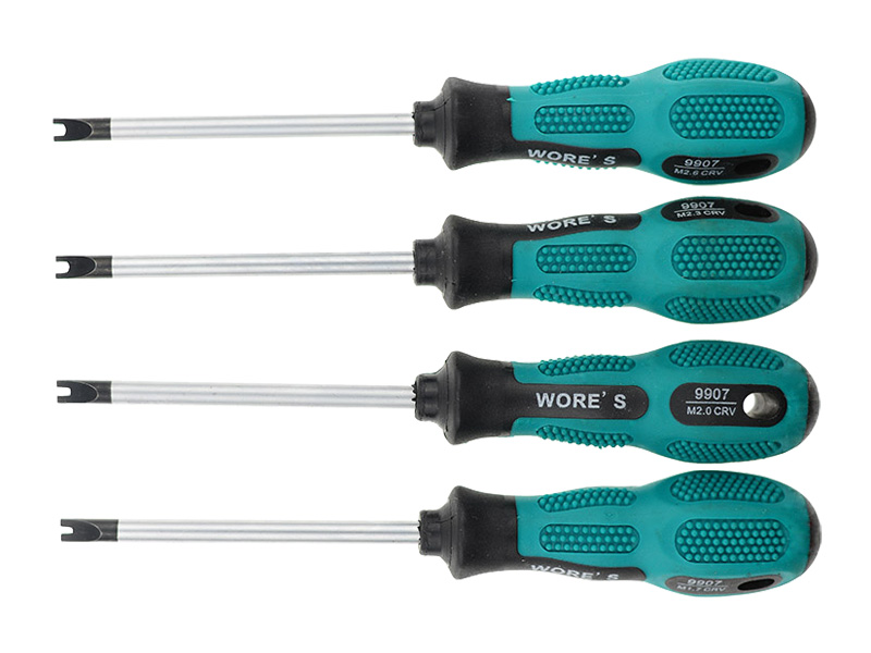 4 Pieces Much Magnetic U-shaped Groove Fork Precision Screwdriver And H Fork Type Screw