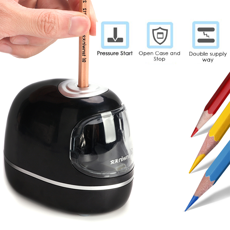 Tenwin Stationery Professional Automatic Pencil Sharpener Electric Cute Mechanical Usb Battery For Kids Children School Supplies