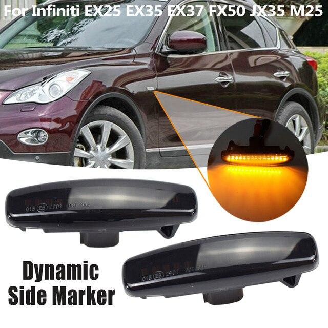 Pour Infiniti EX25 EX35 EX37 FX35 FX37 G25 G35 Q40 Q60 Q70 QX50 QX70 Feu De Position Latéral Clignotant LED Clignotants Dynamiques Lampe