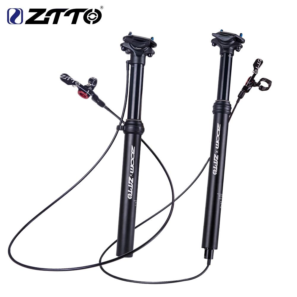 Dropper Adjustable Bike MTB Seat Post External Cable Remote Lever Black