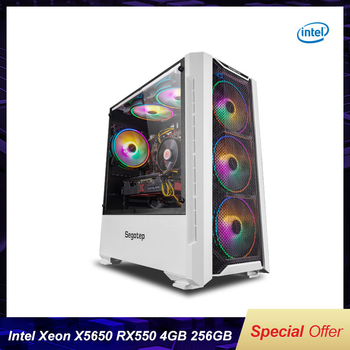 Funhouse Assembled Desktop Computer Intel Xeon X5650 6-Cores Twelve Threads LGA 1366/RX550/RX560 4G/8G/16G RAM 256G SSD For LOL