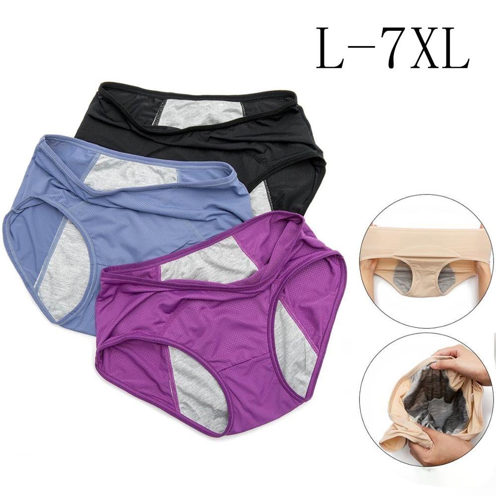 2020 новые женские физиологические брюки менструального периода герметичные средней высокой талии сетки дышащего размера плюс нижнее белье ...
