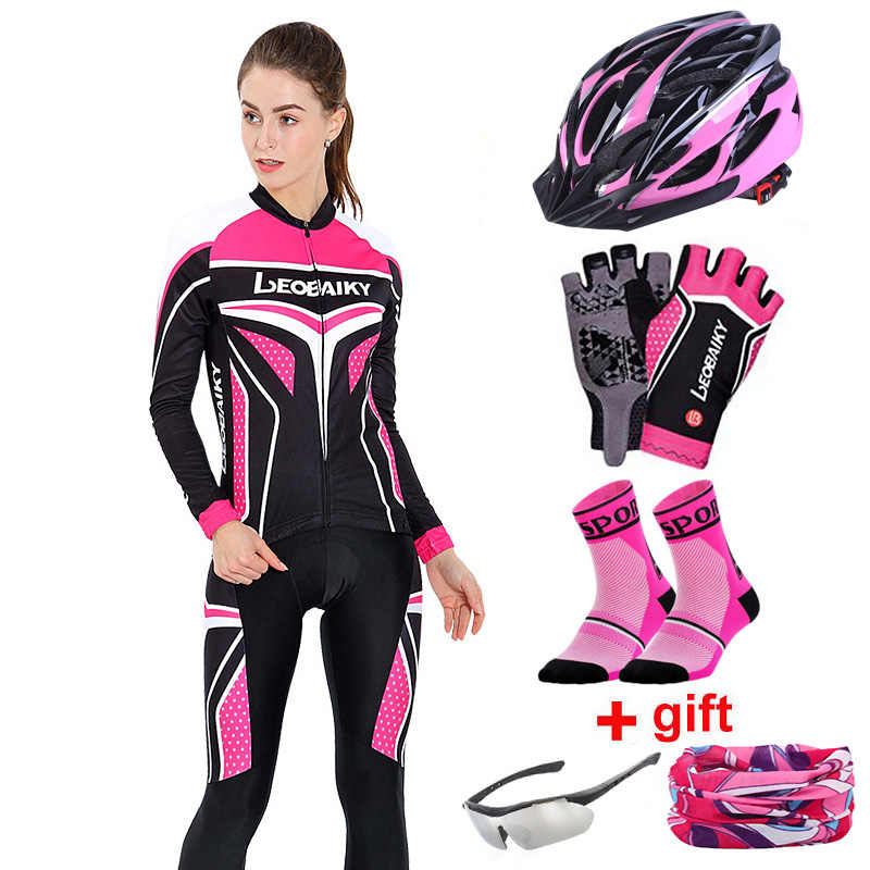 Autumn Long Sleeve Women Cycling Clothing MTB Pro Team Jersey Bike Riding Suit Breathable Bicycle Clothes Ladies Cycling Sets