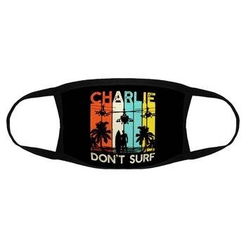 Vintage Charlie DonT Surf Face Mask Men Cotton Military Vietnam War Apocalypse Now Dust Merch K003547