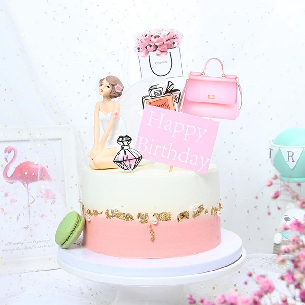 Groovy Happy Birthday Cake Topper Cake Baking Arrangement Decor Women Funny Birthday Cards Online Elaedamsfinfo