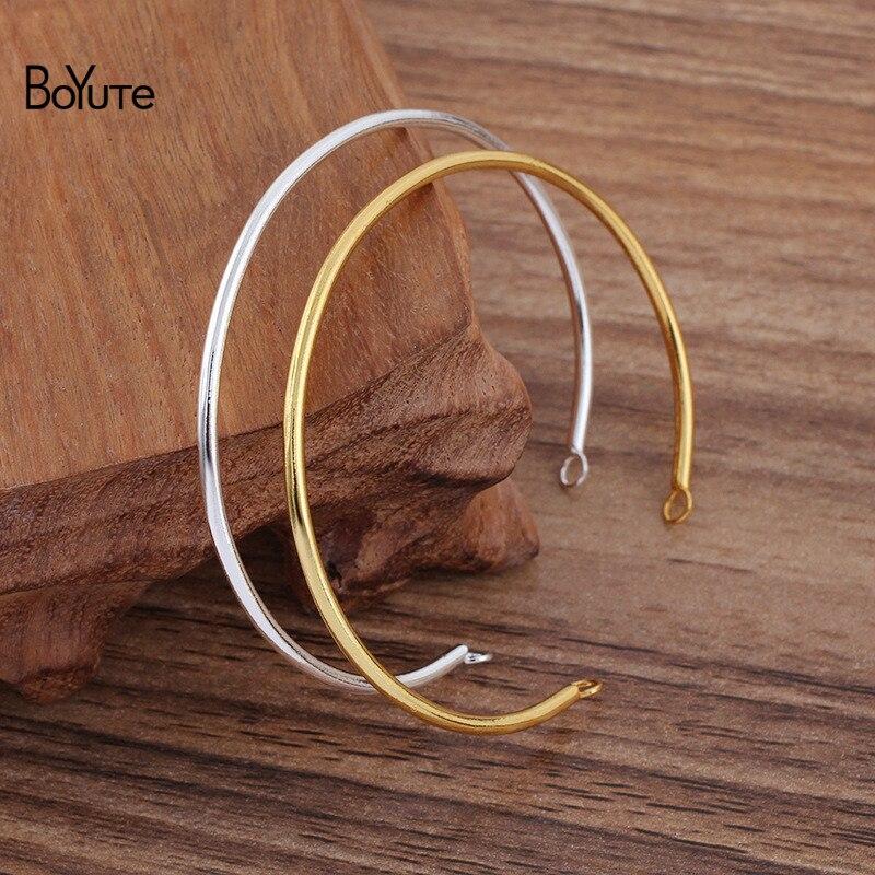 BoYuTe (50 шт./лот) 65*2 мм металлический железный браслет с 5 мм петлей DIY ювелирные аксессуары материалы ручной работы