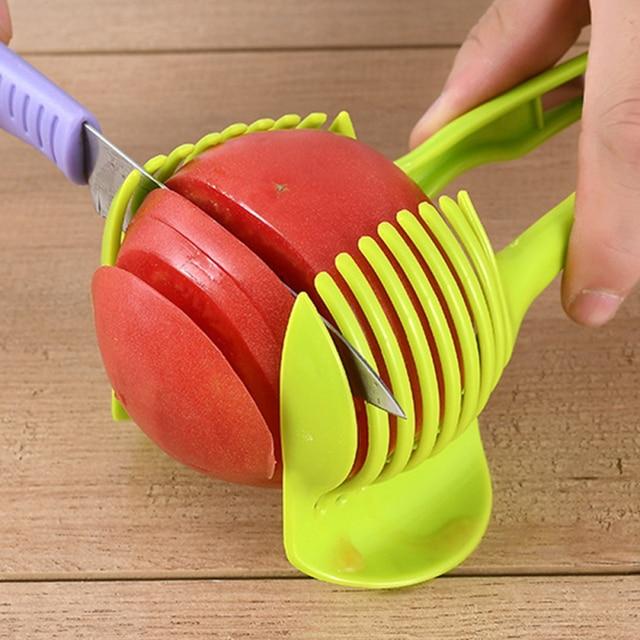 VOGVIGO Handheld Kitchenware Tomato Slicer Bread Clip Fruit and Vegetable Cut Potato Apple Creative Gadget Kitchen Accessories 1