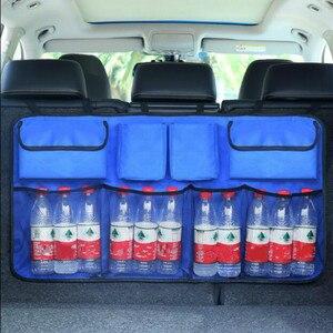 Image 3 - Multi Pocket Car Trunk Organizer Seat Back Storage Bag Large Capacity Adjustable Backseat Oxford Bag Universal Stowing Tidying