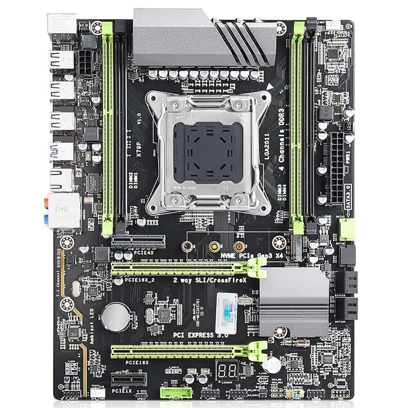Deluxe Desktop Motherboard X79 Lga 2011 Cpu Computer 4 Channel Gaming Support M.2 E5-2680V2 I7 Sata 3.0 Usb 3.0 For Intel B75