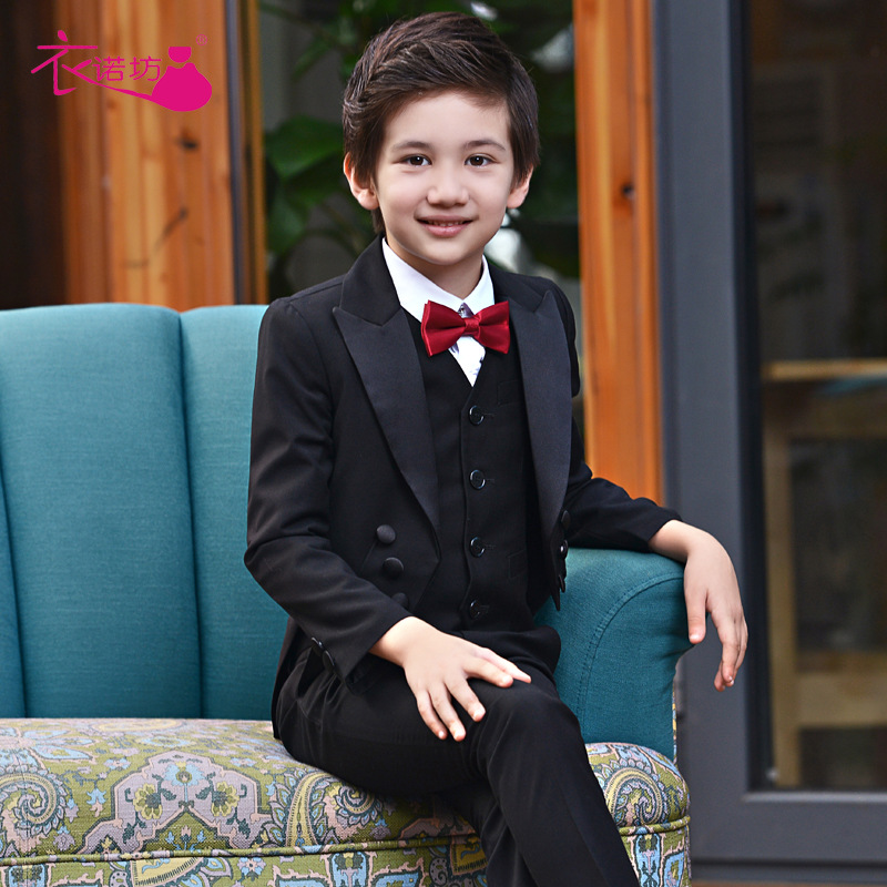 Boys Suits For Weddings Kids Prom Suits Black Wedding Suits Kids Boys Clothing Set Boy Formal Classic Costume Jungenkleidung