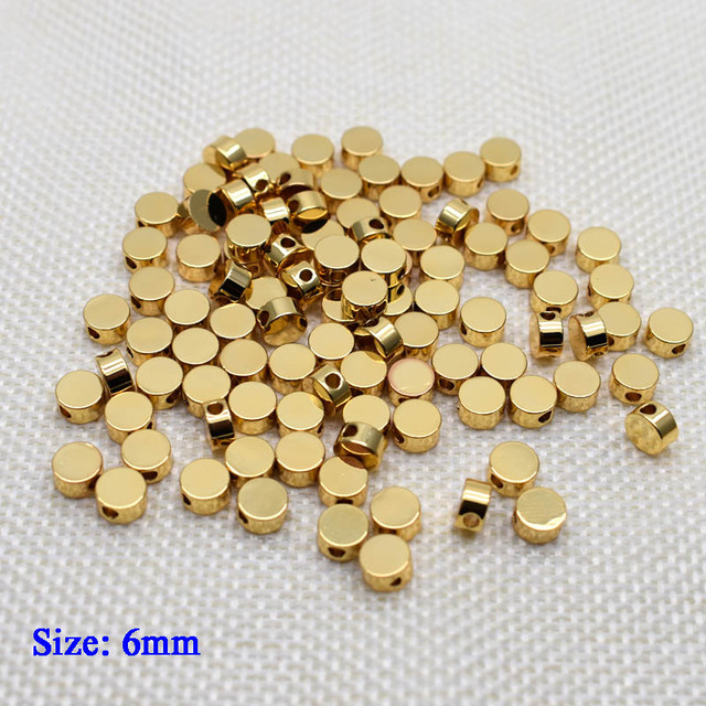 6mm Pentagram heart cross Butterfly shape Beads Metal Copper beads Gold Loose beads for Jewelry Making DIY Bracelet hole 1.7mm 3
