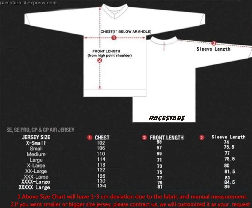NEW RACESTARS Motocross Shirt Motorcycle Jacket Off-road T-shirt Ride Bicycle Long-sleeve Moto Cycling Jersey Men Long Sleeve