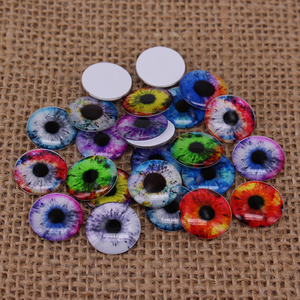 24pcs/lot Eye Pupil Round Glass Eye Chips for Blyth Doll DIY Hand Made Accessories BT100(China)