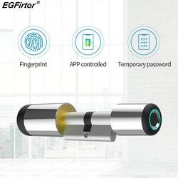 Inteligentne Wifi zamek elektroniczny Cylinder Bluetooth APP biometryczny odcisk palca blokada antykradzieżowa inteligentny zamek blokada bezpieczeństwa Bluetooth