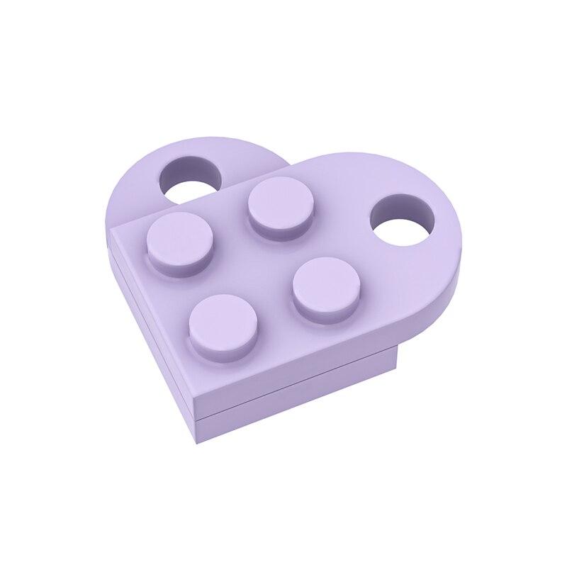 Ожерелье MOC 3176 в виде кирпичного сердца/кольцо для ключей, игрушки 2x2 в форме сердца, многоцветная, совместимая с логотипом, развивающая игру...