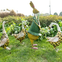 Metal Duck animal christmas garden decoration yard decoration lawn decor outdoor and indoor decoration garden