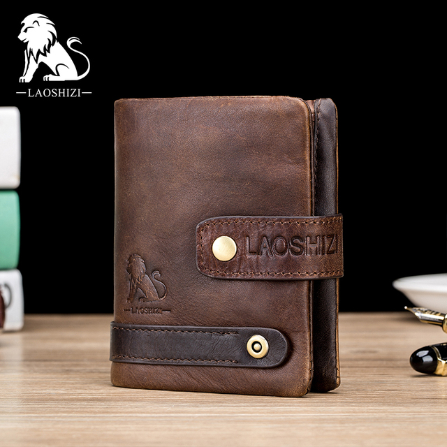 Genuine leather coin pocket wallet
