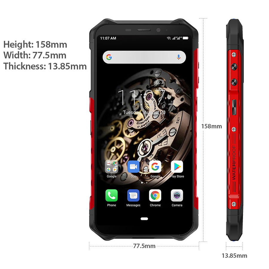 Ulefone Armor X5 5000mAh ip68 shockproof mobile phone Android 9.0  5.5 inch Octa-core 3GB + 32GB Unlocked 4G Rugged Smartphone