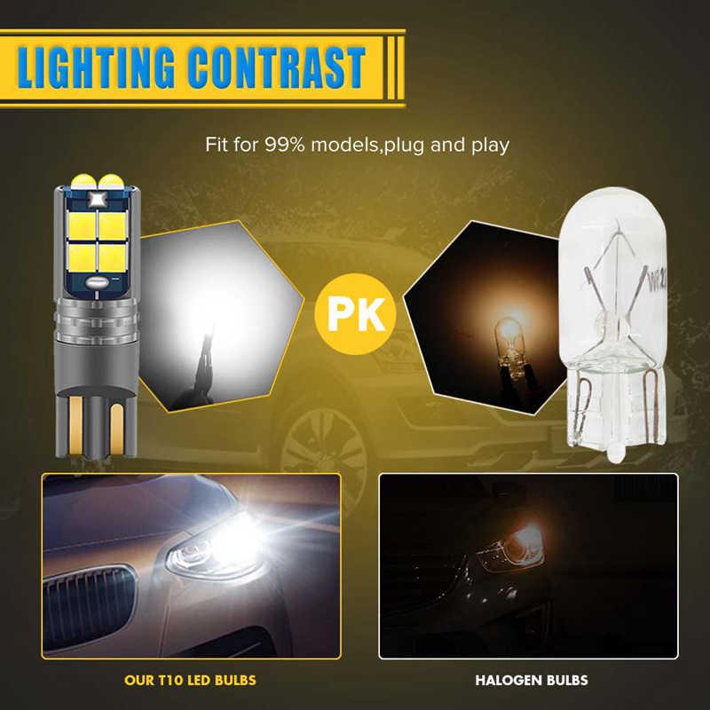 10x T10 LED W5W Canbus bombillas de luz para BMW E46 F20 F30 X3 X4 X5 X6 Z1 Z4 Z3 M3 Interior del coche lectura luces de estacionamiento No Error 12V 12V