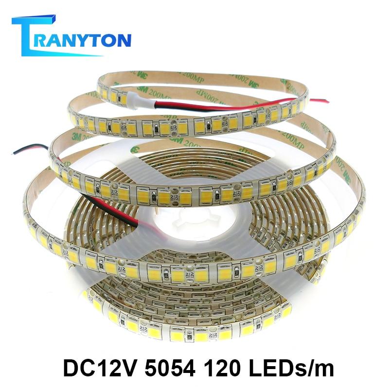 5 м 120/60 светодиодный s 5054 светодиодный светильник водонепроницаемый 12 В постоянного тока гибкий светильник с высокой яркостью, чем 5050 синий зеленый красный белый RGB