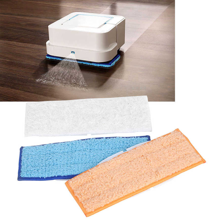 3Pcs Mop Cloth Wet Dry Clean Pad Replacement Fit for 240 series Sweeper Lens Phone Screen Cleaning Wipes Cloths