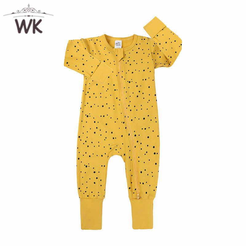 Baby Girl Romper Newborn Sleepsuit star Baby Rompers Infant Baby Clothes Long Sleeve Newborn Jumpsuits Baby Boy Pajamas JP467