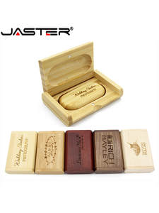 Memory-Stick Usb-Flash-Drive U-Disk Pendrive 4gb LOGO JASTER Wooden Wedding-Gift Free-Custom-Logo