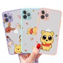 Disney Winnie Pooh Bear Phone Case For Iphone 11 12 7 8 Pro Mini XS Max Xr X Plus Black Skin Feel Cover