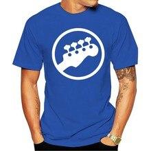 Baixo Headstock Guitarra símbolo Jogador músicos Logotipo Da música Rock engraçadomasculina algodão Manga Curta 2021 T-shirt