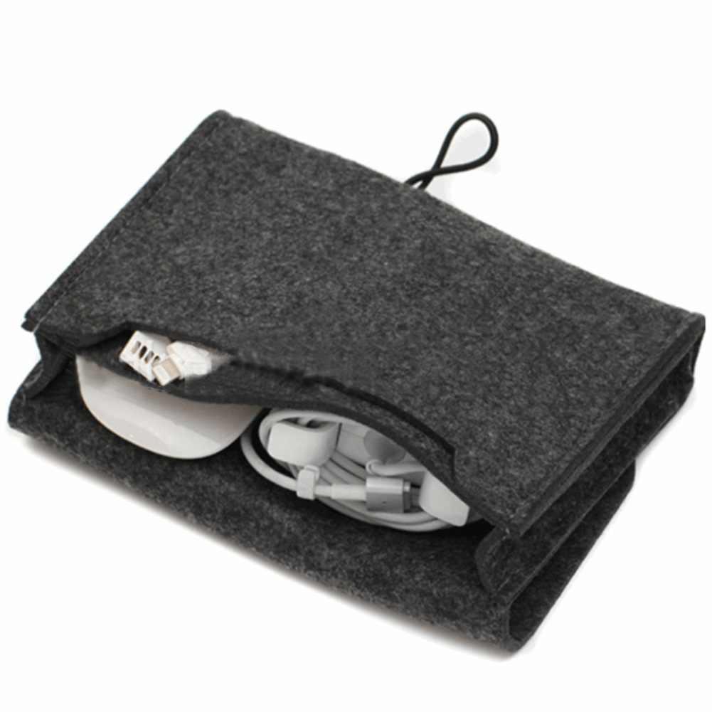 1 Pc przechowywanie w domu organizacja klucz monety pakiet Mini czuł słuchawki SD Card Power Bank kabel danych organizator podróży czarny/szary